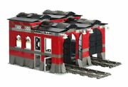 Lego 10027 Town City Train Engine Shed Complete W/instructions