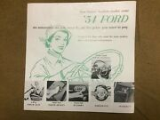 1954 Ford Sales Brochure Seat Steering Window Brakes Fordomatic Overdrive