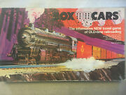 Vintage Box Cars Board Game Old Time Railroad Boxcars Travel Erickson 1974