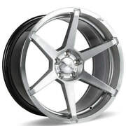 4 20 Staggered Ace Alloy Wheels Aff06 Silver With Machined Face Rimsb44