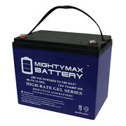 Mighty Max 12v 75ah Gel Battery Replacement For John Deere 4500 Tractor