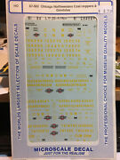 Ho Scale Microscale Decal 87-562 Chicago Northwestern Coal Hoppers And Gondolas