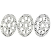 Polished Front Rear Brake Discs Rotors For Harley Fxdl Fxdwg Fxsts Softail 87-99