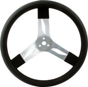 Quickcar 17 Inch Black Dished Aluminum Steering Wheel 68-002 17 Race Car
