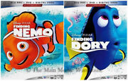 Authentic New Pixar Finding Nemo And Finding Dory Blu-ray Dvd And Digital Copy Code