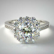 1.54 Carat Real Lab Grown Diamond Engagement Rings For Her Platinum Size 5 6 7 8