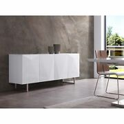 Paul Buffet, 5mm Pure Tempered White Glass Top, High Gloss White, Design On D...