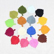 5/100pcs Leaves Patches Embroidery Iron-on/sew-on Applique Diy Clothing Decor