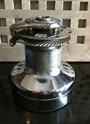 Barient 27 Self Tailing Winch 2 Speed Manual Works Very Good Condition Stainless
