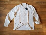 250 Billy Reid Standard L Large Selvedge Driver Shirt Made In Usa Elbow Patches