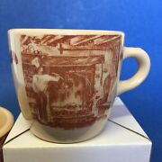 Barclay Kitchen Restaurant Los Angeles Wallace Coffee Cups Lot Of 2 Desert Ware