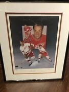 """Gordie Howe Signed Lithograph 20x24 /500 With Coa """"power"""" By Christopher Paluso"""