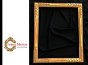 2 Wide 20 X 16 Hand Carved Picture Frame Gilded In Genuine 22k Gold
