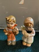 Vintage Boy And Girl Salt And Pepper Shakers That Could Possibly Be Hummel