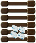 Babykeeps Child Safety Locks - Latches To Baby Proof Cabinets Drawers Brown
