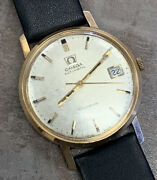 Omega 34mm Automatic Geneve Solid 18k Yellow Gold Case Cal. 565 Working Well