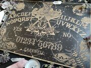 Ouija Board With Deathand039s Head Moth And Moon Witchcraft Decor From Wood