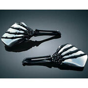 Motorcycle Skull Hand Mirrors For Harley Davidson Cafe Racer Bobbers Choppers Us