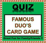 And039famous Duoand039sand039 Pub Quiz Trivia Card Game Table Fun Families/friends/zoom