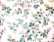 Longaberger Rare And Retired White Vine Floral Fabric-half Yard- New- Shop Store