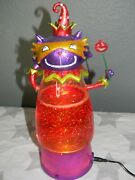 Dept 56 Halloween Masquerade Mood Lamp Witch Kitty In Box