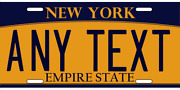 Customize This New York License Plate - Any Text You Want, Novelty Auto Plates