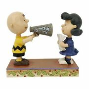 Peanuts Charlie Brown And Lucy Statue By Jim Shore
