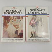 Lot Of 2 Vintage Jaymar Jigsaw Puzzles A Salute To Norman Rockwell 500 Pc. New