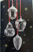 Rare New In Box Art Glass Steuben Ornament Gift Set Of Four Limited Edition
