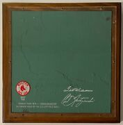 The Original Green Monster Fenway Park Boston Red Sox 12x12 Section Of Wall