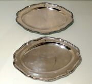 George Iii Sterling Silver Pair Meat Dishes London 1768 Francis Butty And Nicholas