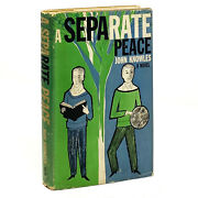 A Separate Peace John Knowles. First Us Edition 1st Printing 1st State Dj