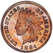 1884 Indian Head Pcgs Proof 66 Rd - Only 12 Graded Higher By Pcgs