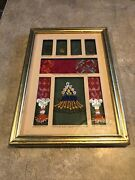 Vintagenative Bedouin Bead And Embroidery Egypt Earing Bird Hanging Picture Frame