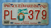 Edward Island Canadian License Plate Anne Of Green Gables 1994 Pl 379
