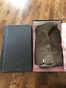 Nib Steve Madden Taupe Leather Knee High Women Boots 6.5