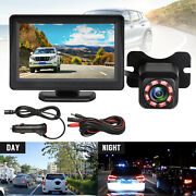 Wireless Waterproof Backup Camera System Car Rear View Parking Hd + 4.3and039 Monitor