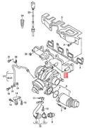 Genuine Vw Exhaust Manifold With Turbocharger 03l253016m