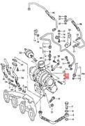 Genuine Vw Seat Sharan Exhaust Manifold With Turbocharger 028253019