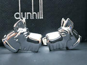 Alfred Dunhill Cufflinks Scottish Terrier Design Menand039s Lost Box Used Good