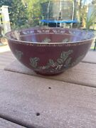 Antique Cloisonne Bowl-large-10andrdquo Inch-painted-china-chinese-asian