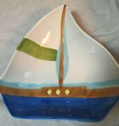 Beau Rivage Casino Sailboat Shaped Serving Bowl Dish See Pictures