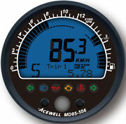 Acewell Md85 Diameter Speedo And Rev Counter With Digital Face