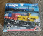 Playmobil Rc Train Set 5258 + Motorized Cargo Loading Crane And Accessories