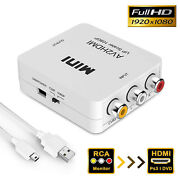 1080p Hdmi To 3rca Cvbs Av Composite Video Audio Converter With Usb Charge Cable
