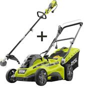 Ryobi String Trimmer 16 In Corded Electric Push Lawn Mower Bagger Wheels 13 Amp
