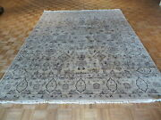 8 X 10 Hand Knotted Beige Fine Oushak Oriental Rug Vegetable Dyes G1727