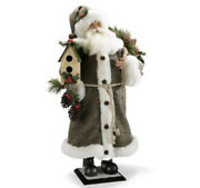 Frontgate 28andrdquo Santa With Birdhouse Sold Out Christmas Nos New W Tags