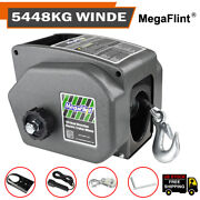 Trailer Winch Kit 6000 Lb Marine Boat 12v Electric Heavy Duty Portable Winch