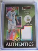 Lionel Messi Jersey Card Panini Aficionado Soccer Nobility Select 1/1 Immaculate